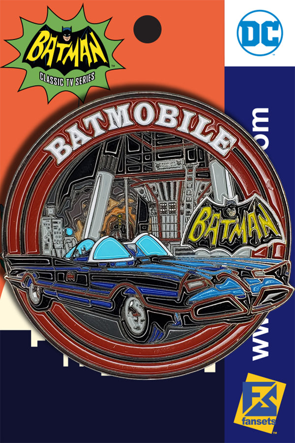 DC Comics Batman 1966 Collection BATMOBILE Licensed FanSets Pin MicroJustice