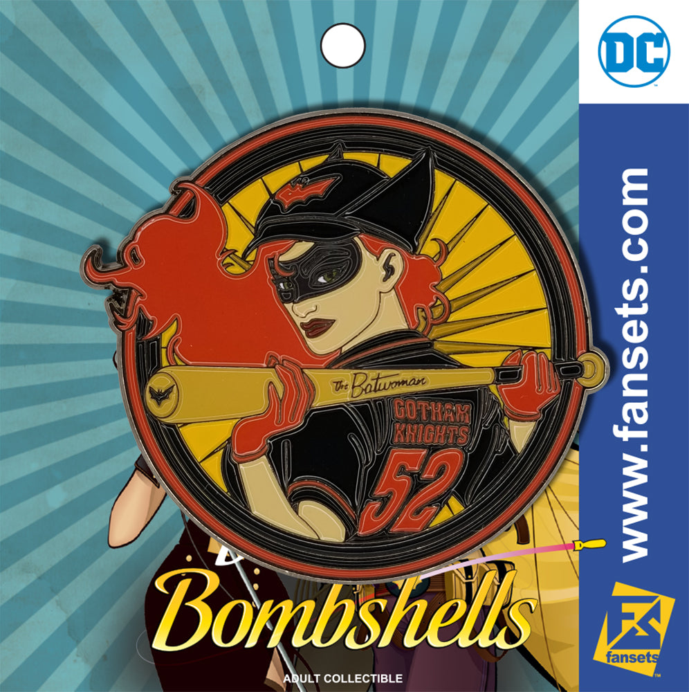 DC Comics Bombshells Batwoman Badge Licensed FanSets Pin