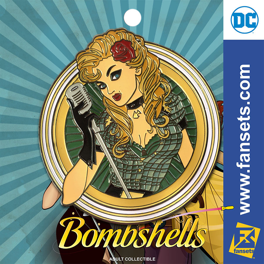 DC Comics DC Bombshells Badge BLACK CANARY Licensed FanSets Pin MicroChracters