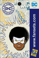 DC Comics Classic Black Lightning Hero Head Licensed FanSets Pin