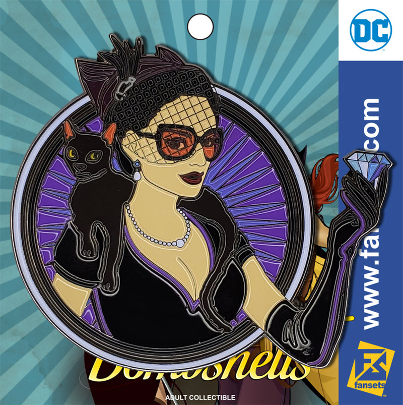 DC Comics Bombshells Catwoman Badge Licensed FanSets Pin