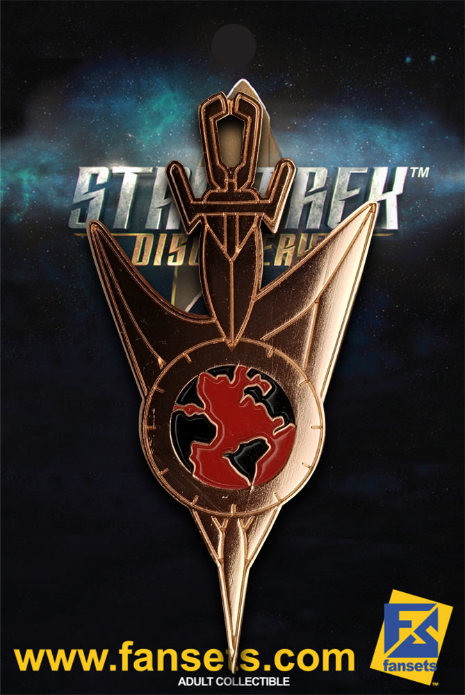 Star Trek Discovery Mirror Universe Operations COPPER Badge Licensed FanSets Pin