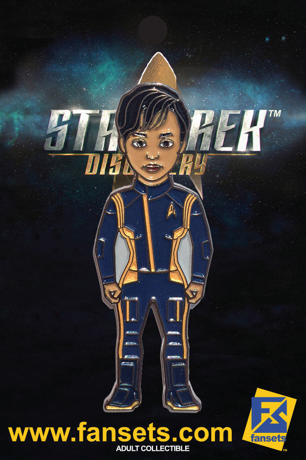 Star Trek Discovery First Officer Michael BURNHAM Licensed FanSets MicroCrew Collector's Pin`