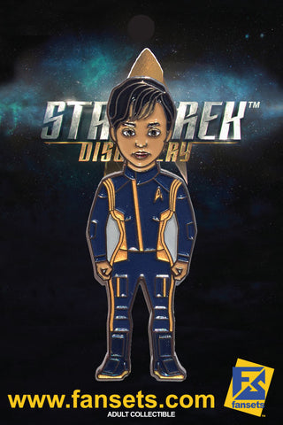 Star Trek Discovery First Officer Michael BURNHAM Licensed FanSets MicroCrew Collector's Pin