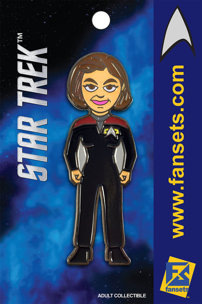 Star Trek CAPT JANEWAY Licensed FanSets MicroCrew Collector's Pin