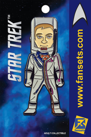Star Trek CAPT KIRK in Space Suit (WEB EXCLUSIVE) Licensed FanSets MicroCrew Collector's Pin
