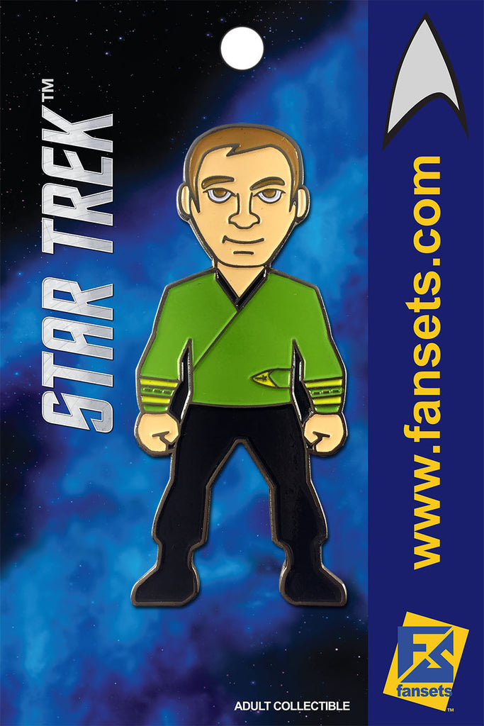Star Trek CAPT KIRK GREEN Licensed FanSets MicroCrew Collector's Pin