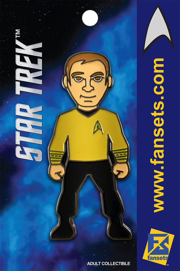 Star Trek CAPT KIRK Licensed FanSets MicroCrew Collector's Pin