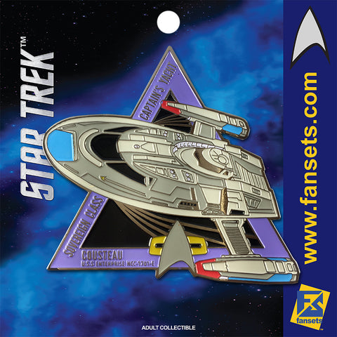 Star Trek MicroFleet Captain's YACHT Licensed FanSets Collector's Pin