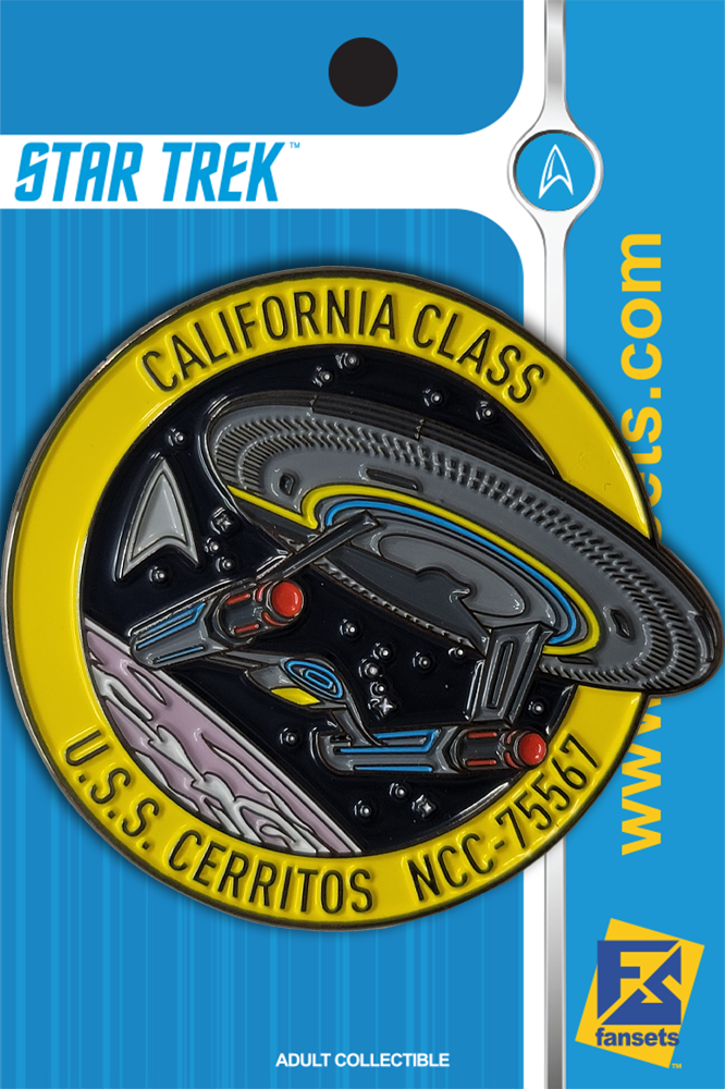 Star Trek Lower Decks U.S.S. CERRITOS NCC75567 MICROFLEET Licensed FanSets Collector's Pin