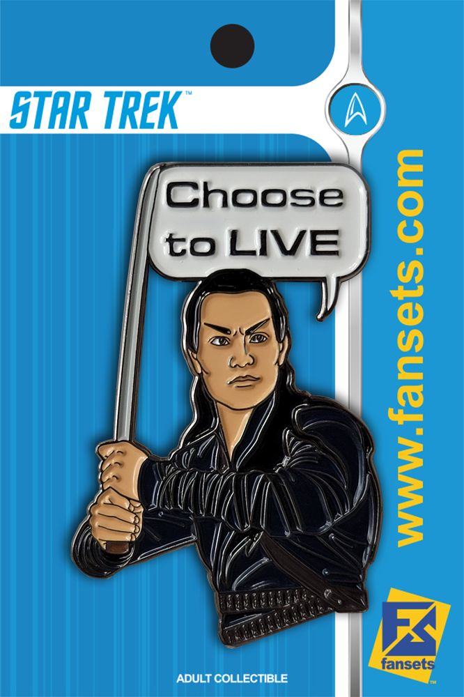 Star Trek: Picard CHOOSE TO LIVE Licensed Fansets Pin
