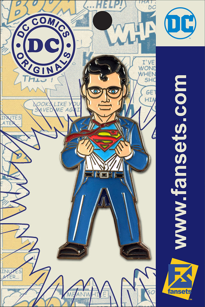 DC Comics Classic CLARK KENT Licensed FanSets Pin MicroJustice