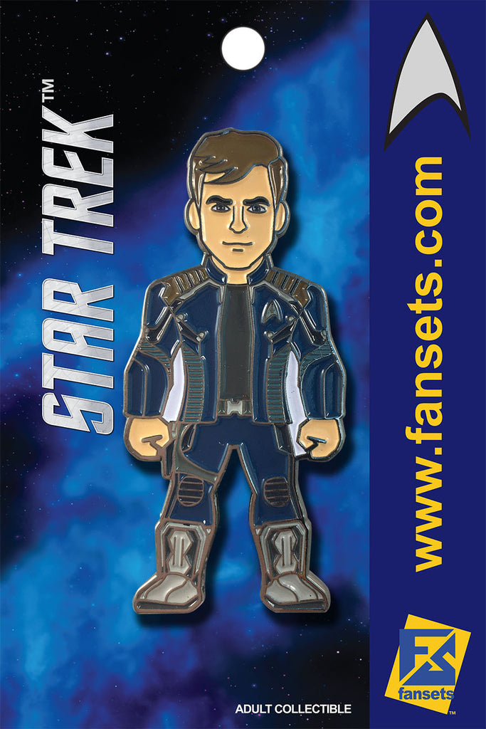 Star Trek CAPT KIRK (KELVIN) Licensed FanSets MicroCrew Collector's Pin