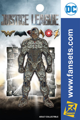 DC Comics Justice League MOVIE CYBORG STYLE GUIDE Licensed FanSets Pin MicroJustice