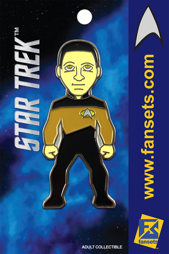Star Trek Commander DATA Licensed FanSets MicroCrew Collector's Pin