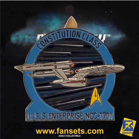 Star Trek MicroFleet USS ENTERPRISE 1701 DISCOVERY SERIES Licensed FanSets Collector's Pin