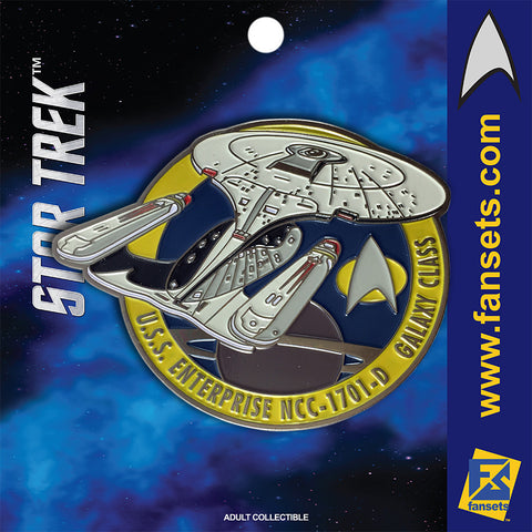 Star Trek U.S.S. Enterprise 1701-D Licensed FanSets Pin