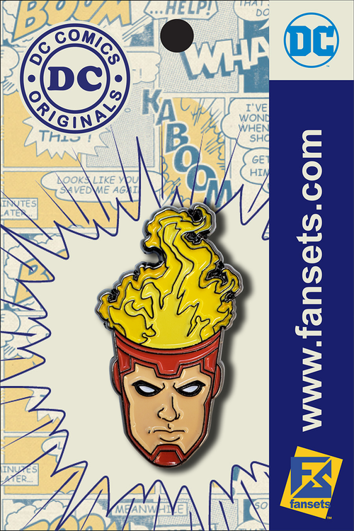 DC Comics Classic Firestorm Head Licensed FanSets Pin