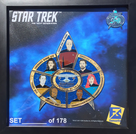 Star Trek The Next Generation 30th Anniversary Pin Set - DOMESTIC ORDERS