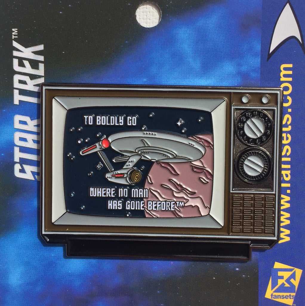Star Trek TO BOLDLY GO Licensed FanSets MicroCrew Collector's Pin