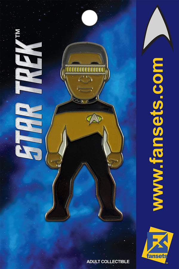 Star Trek GEORDI La Forge Licensed FanSets MicroCrew Collector's Pin