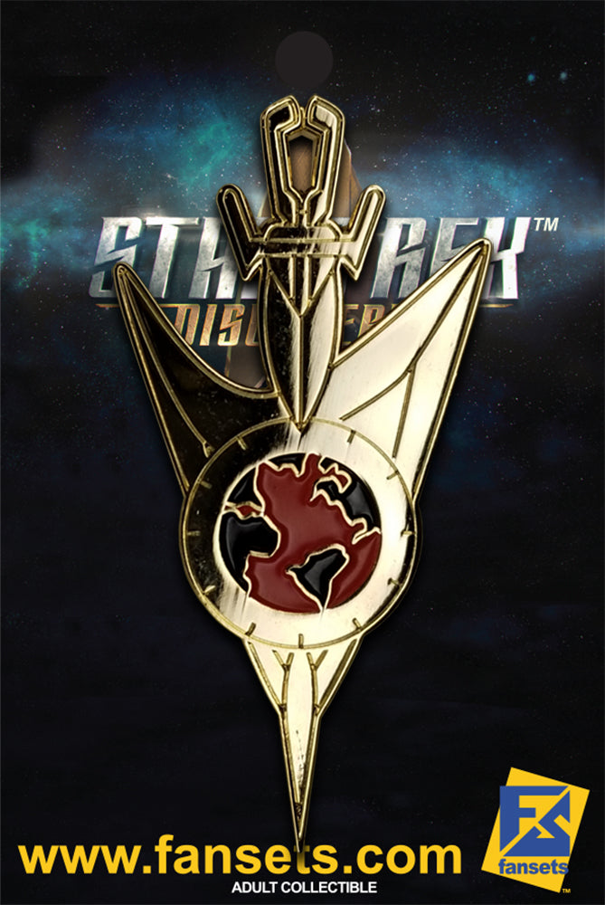 Star Trek Discovery Mirror Universe Command GOLD badge Licensed FanSets Pin