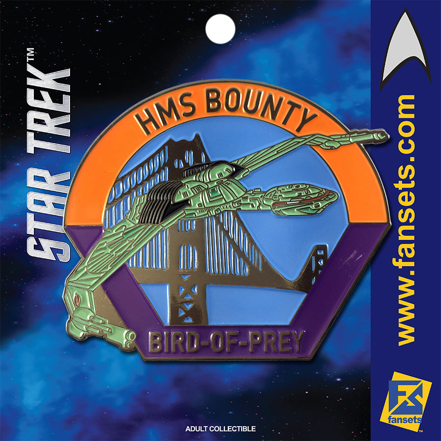 Star Trek MicroFleet H.M.S. BOUNTY (Bird Of Prey) Licensed FanSets Collector's Pin
