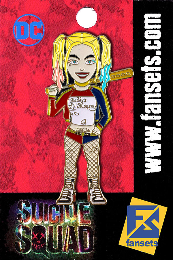 DC Comics Suicide Squad HARLEY QUINN Licensed MicroMovie Collectors Pin