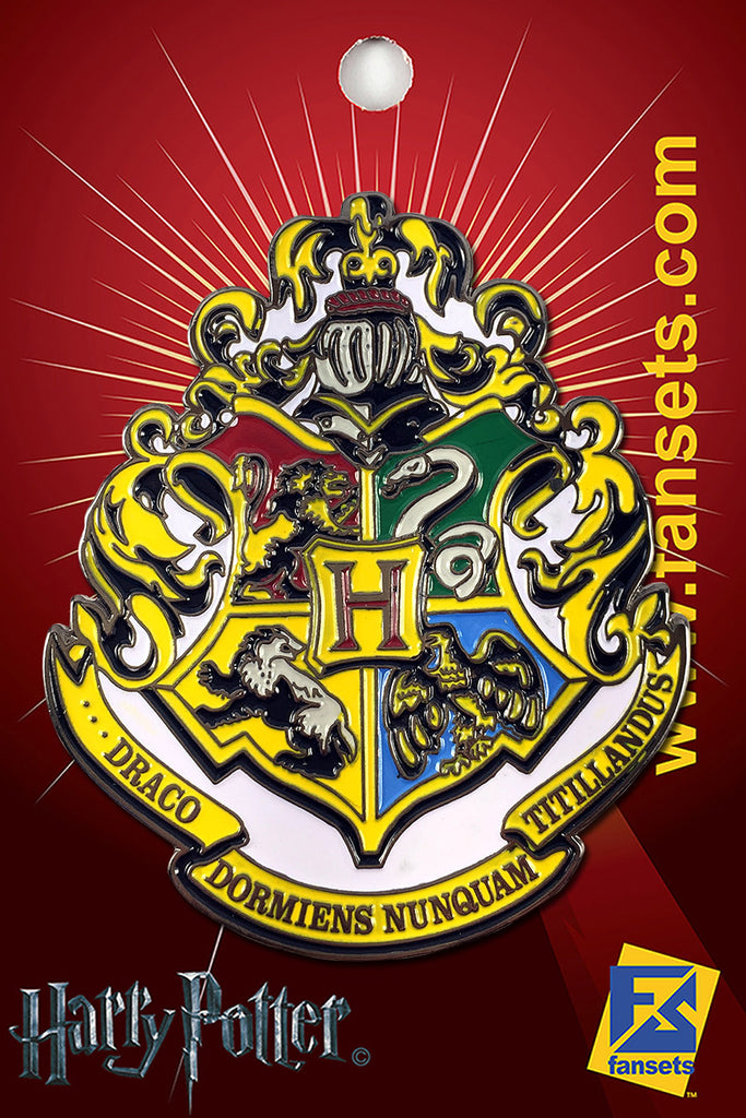 Harry Potter HOGWARTS School Crest Licensed FanSets Pin MicroMagic