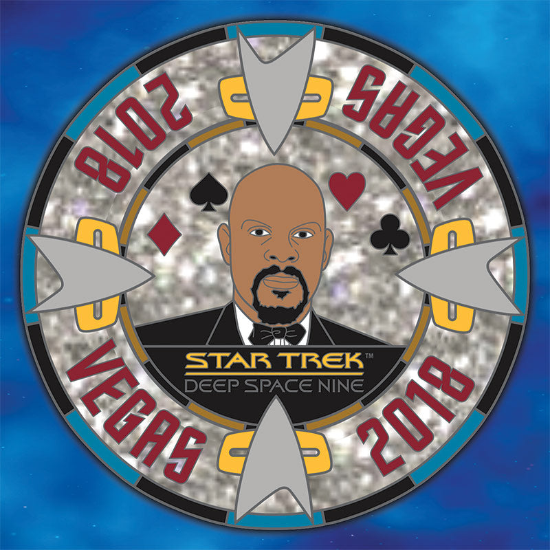 Star Trek STLV 2018 CAPT SISKO Poker Chip Licensed FanSets Pin