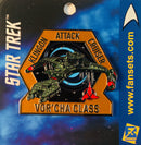 Star Trek Klingon VOR'CHA Attack Cruiser Licensed FanSets MicroCrew Collector's Pin