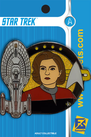 Star Trek Captain Janeway Licensed FanSets MicroCrew Collector's Pin