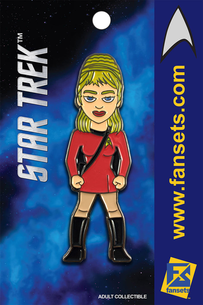 Star Trek Janice RAND Licensed FanSets MicroCrew Collector's Pin