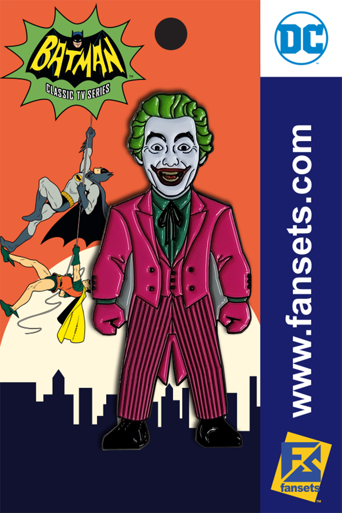 DC Comics Batman 1966 Collection JOKER Licensed FanSets Pin