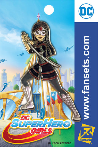 DC Comics SuperHero Girls STYLE KATANA Licensed FanSets Pin MicroChracters
