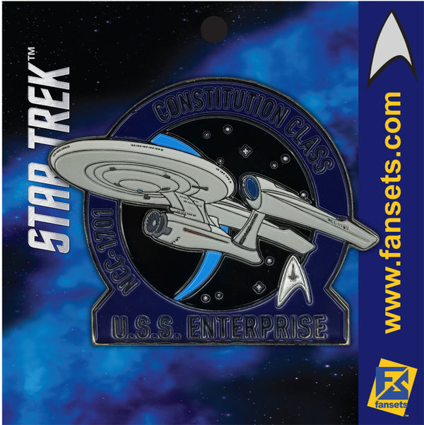 Star Trek MicroFleet KELVIN USS ENTERPRISE 1701 Licensed FanSets Collector's Pin