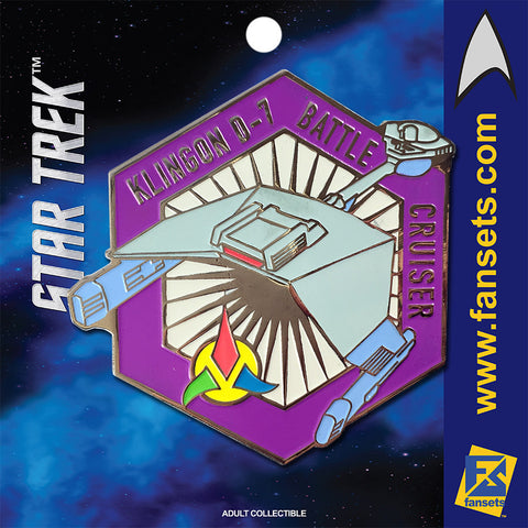 Star Trek MicroFleet KLINGON D-7 Battle Cruiser Licensed FanSets Collector's Pin