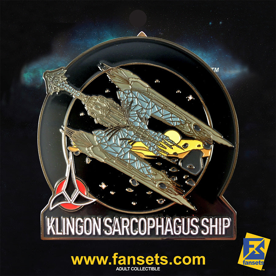 Star Trek Discovery Klingon SARCOPHAGUS Ship Licensed FanSets MicroFleet Collectors Pin