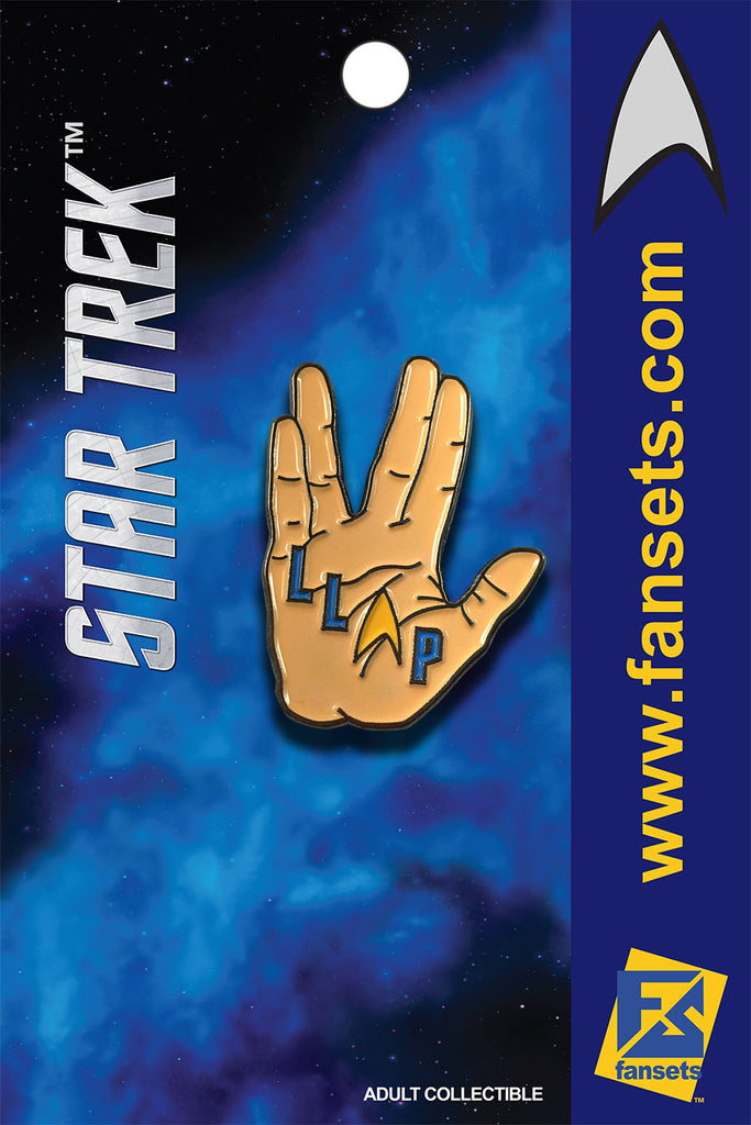 Star Trek LLAP Live Long and Prosper Licensed FanSets MicroCrew Collector's Pin