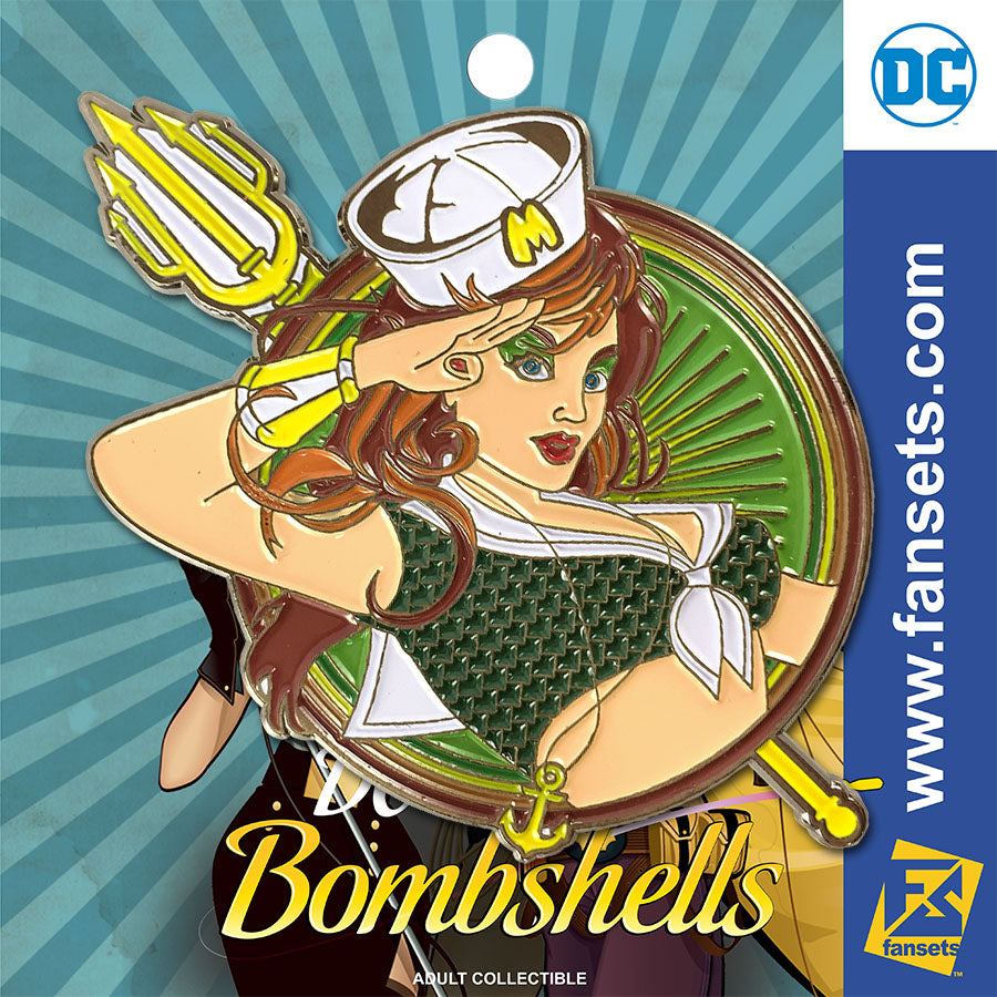 DC Comics DC Bombshells Badge MERA Licensed FanSets Pin MicroChracters