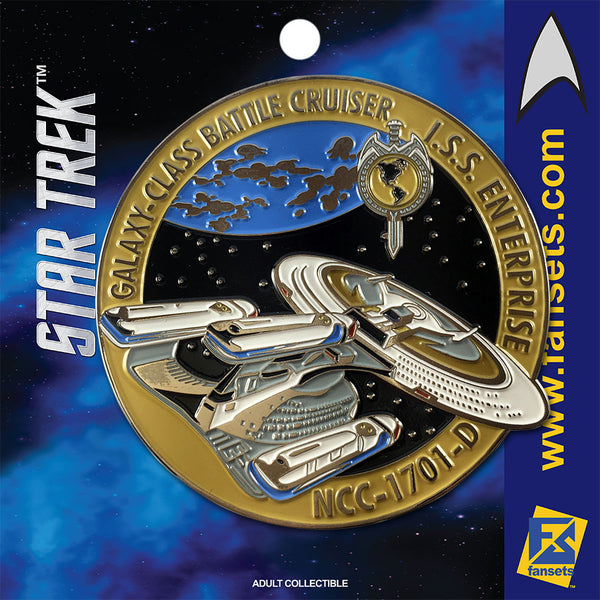 Star Trek MicroFleet Mirror I.S.S. Enterprise (REAR) Licensed FanSets Collector's Pin