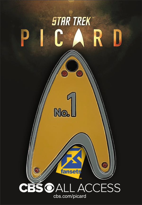 Star Trek Picard #1 DOG TAG Pin 2019 Licensed FanSets Pin