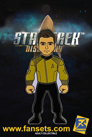Star Trek Discovery CAPTAIN CHRISTOPHER PIKE Licensed FanSets MicroCrew Collector's Pin