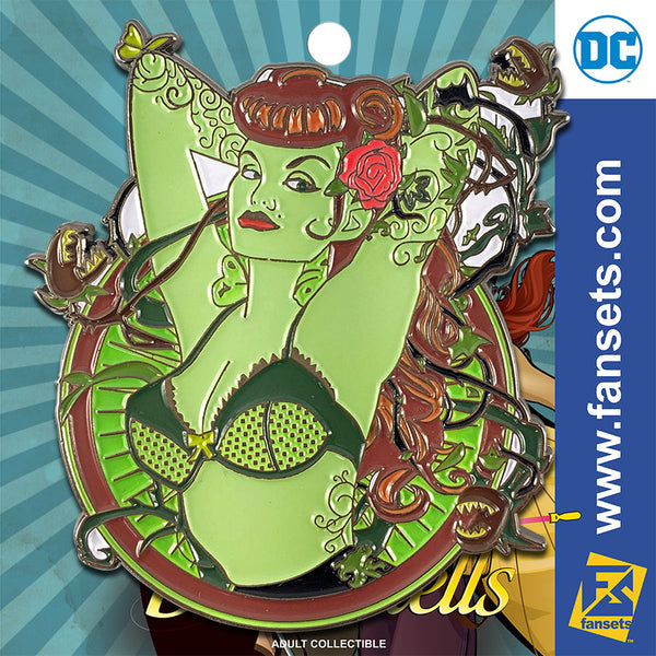 DC Comics  Bombshells Poison Ivy Badge Licensed FanSets Pin