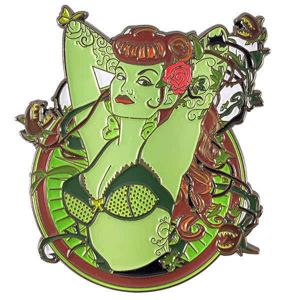 DC Comics DC Bombshells Badge POISON IVY Licensed FanSets Pin MicroChracters