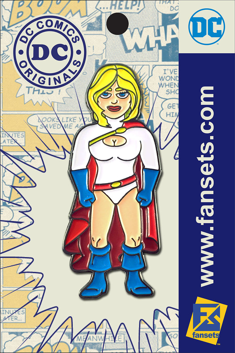 DC Comics Classic POWER GIRL Licensed FanSets Pin MicroJustice