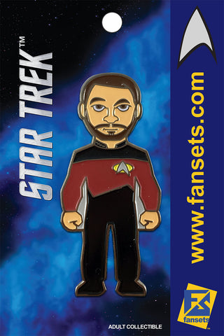 Star Trek COMMANDER RIKER Licensed FanSets Collector's Pin