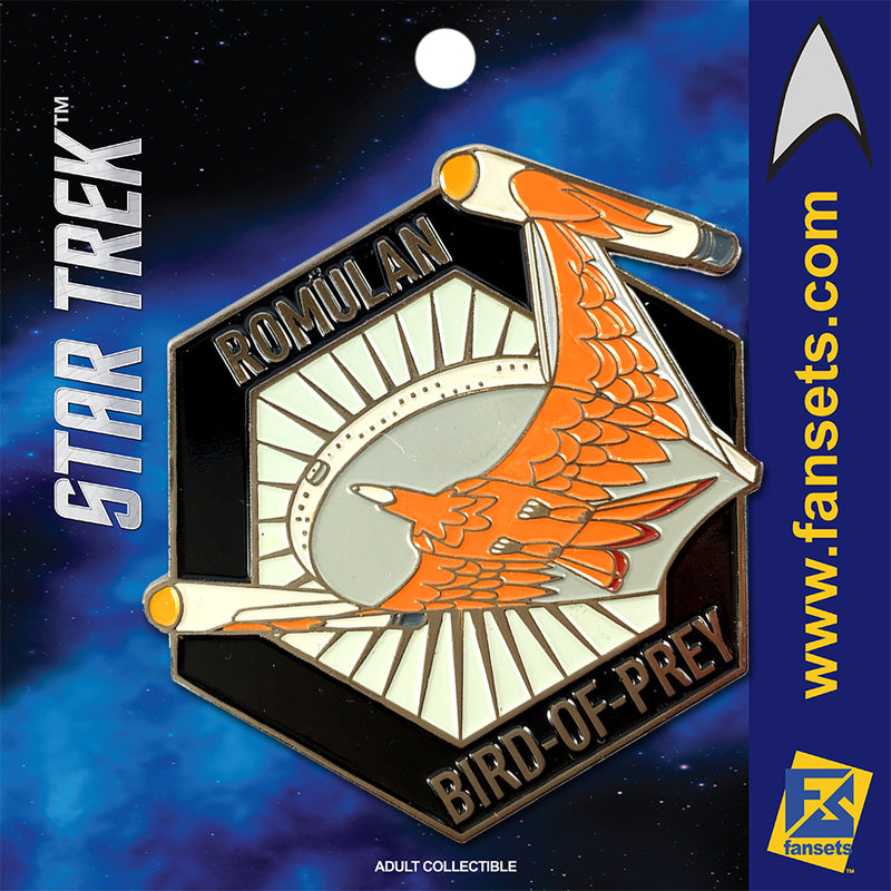 Star Trek MicroFleet Romulan BIRD Of Prey Licensed FanSets Collector's Pin