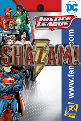 DC Comics SHAZAM LOGO Licensed FanSets Pin