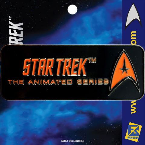 Star Trek SERIES THE ANIMATED SERIES Licensed FanSets Logo Collector's Pin